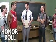 Honor Roll - JIZZ ORGY - Dean Monroe , Shane Frost , Drake Wild , Ayden Marx , Luke Marcum