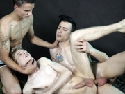 Kinky threesome - Erik Franke, Timmy Treasure & Xander Rex